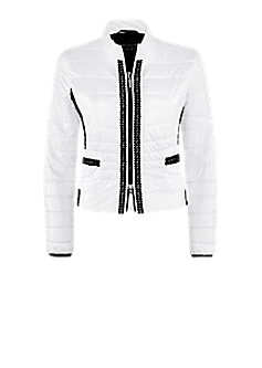 Diffuse jacket | Quilted jacket with decorative border