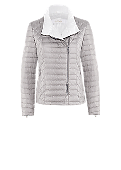Dora jacket | Quilted vest with asymmetrical zipper
