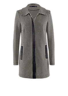 Bea long jacket l Black-white frock coat