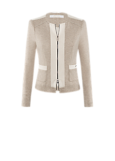 Bell jacket l Wool mix biker jacket