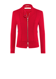Bless jacket l Stretch jacket in red with stand-up collar