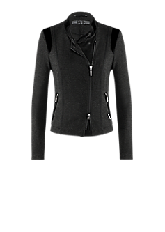 Blues jacket l  biker style jacket with asymmetric zipper