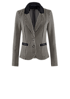 Codex blazer | Fitted jacket in a black-white look