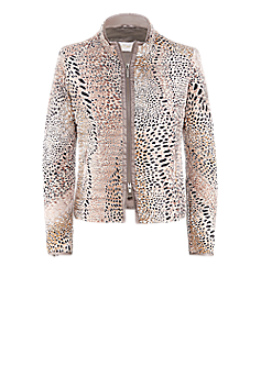 Daisy jacket | Down jacket in an animal print