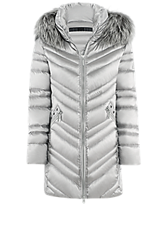 Darling jacket l Down long jacket with eyelets and hood