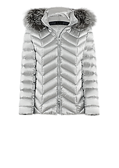 Delight jacket l Fitted down jacket with fur