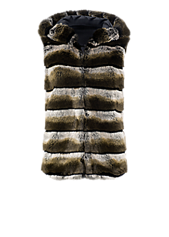 Fizzy gilet l Gilet with faux fur strips