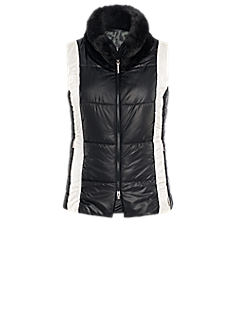 Fresh gilet | Black and white embroidered gilet
