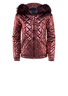 Ice jacket | Quilted jacket with fur hood