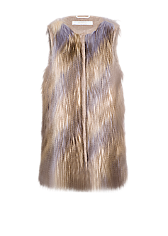 Ida gilet l Longer gilet with fringe effect