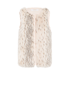 Indy gilet | Fake fur gilet