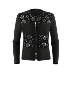Phoenix jacket | Jacket with floral décor