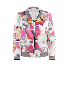 Pilot jacket | Blouson with flower print