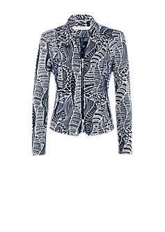Play jacket | Jacket with stand-up collar and graphical pattern