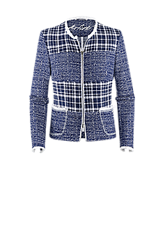 Poet jacket | Boxy jacket in a bouclé look