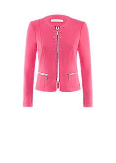 Pull jacket/RI | Collarless jacket with stud decoration
