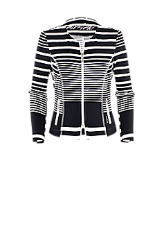 Purple jacket | Sweat jacket in a striped look