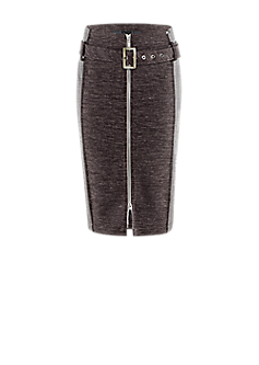 RL-503 | Slim-fit skirt with belt and zip closure