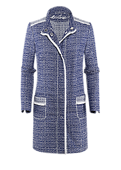Spirit long blazer | Short coat in bouclé style
