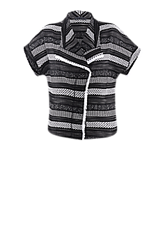 Strong vest | Vest with a black-and-white pattern