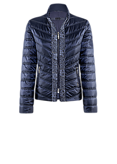 Venus jacket | Close-fitting quilted jacket with sparkling stripes